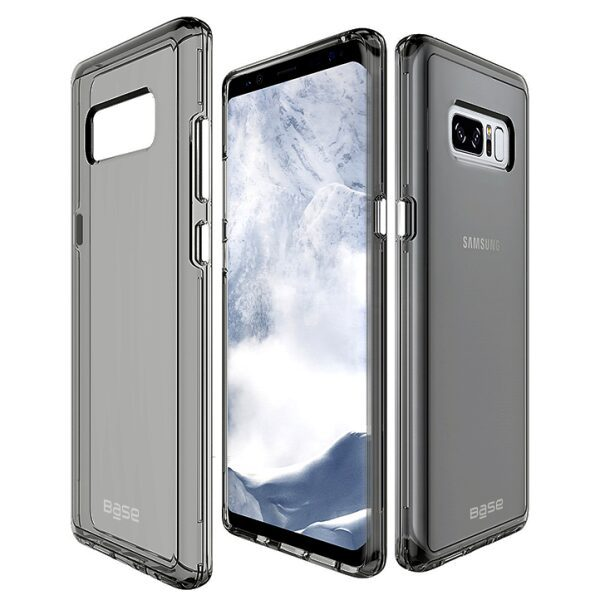 Base Crystal Shield - Reinforced Bumper Protective Case for Samsung Galaxy Note 8 - Black