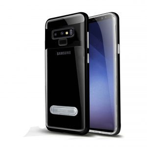 Base DuoHybrid - Reinforced  Protective Case w/ Kickstand for Samsung Note9 - Clear/Black