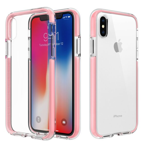 Base BorderLine - Dual Border Impact Protection for iPhone X - Pink