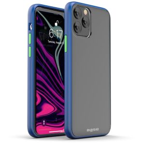 Base  IPhone 11 PRO Max (6.5) -DuoHybrid Reinforced  Protective Case - Clear/Blue