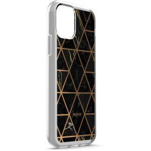 Base  IPhone 11 (6.1)  - Marble Luxury Shockproof Cover Case - Black
