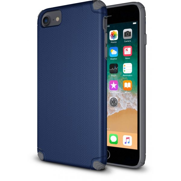 Base ProTech - Rugged Armor Protective Case for iPhone SE - 6/7/8 - Blue