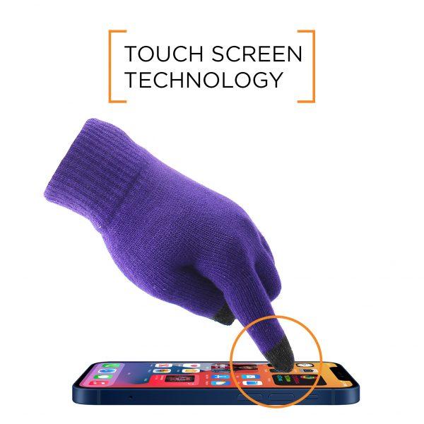 Smart Touch Glove - Purple