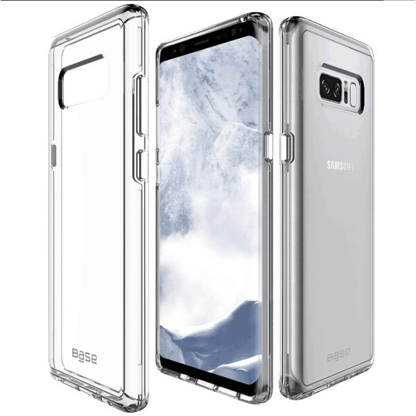 Base Crystal Shield - Reinforced Bumper Protective Case for Samsung Galaxy Note 8 - Clear
