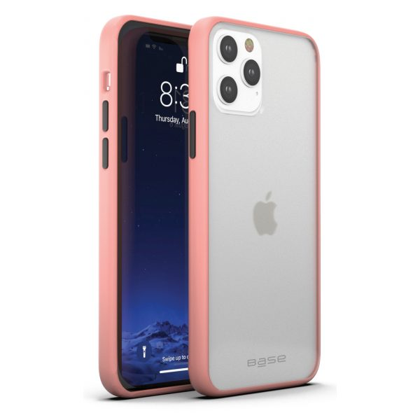 iPhone 12 Mini (5.4) - DuoHybrid Reinforced  Protective Case  - Clear/Coral