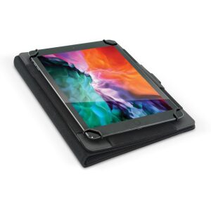 "Base - Folio Universal Tablet Case Cover & Stand. Good for all iPad Mini 1/2/3/4/5 & All Samsung TAB A up to 8.5"" Touchscreen Tablet (5.5 "" 8.5"") - Black"
