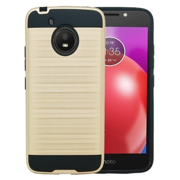 Base Brushed Metal Hybrid Case MOTOROLA MOTO E4 - GOLD