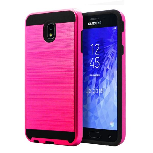 Base Brushed Metal Hybrid Case GALAXY J3 (2018) - PINK