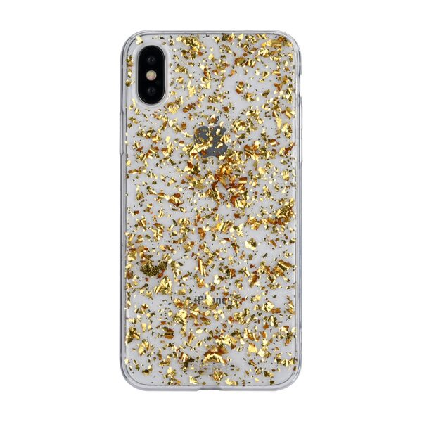 Base CharismaGlimmer - Glimmering Protective Case for iPhone X - Gold