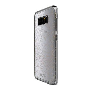 Base Crystal Shield - Reinforced Bumper Protective Case for Samsung Galaxy Note 8 - Gold Glitter