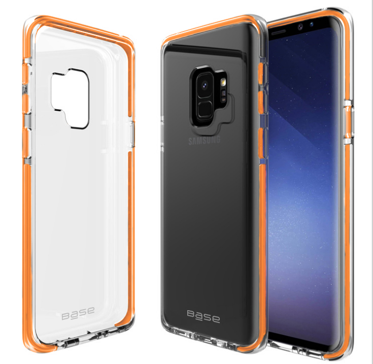 Base BorderLine - Dual Border Impact Protection for Samsung Galaxy S9 - Orange