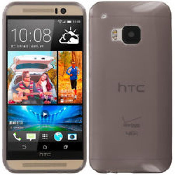 Base Htc One M9 High Gloss Tpu Case - Smoke