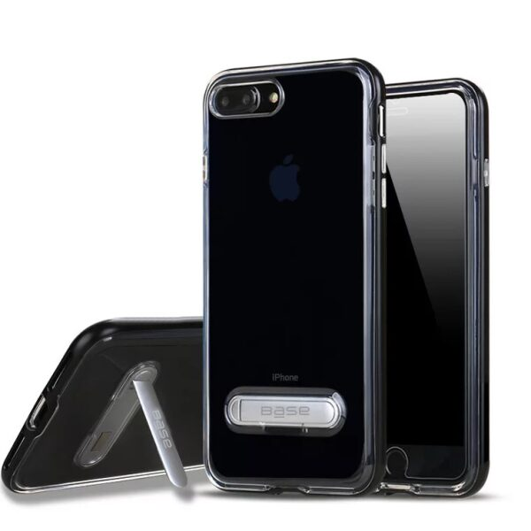 Base DuoHybrid - Reinforced  Protective Case w/ Kickstand for iPhone 7/8 Plus - Clear/Black