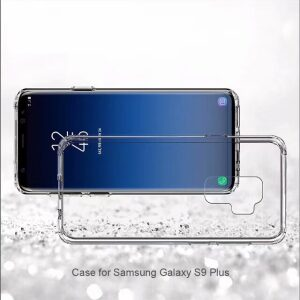 Base Crystal Shield - Reinforced Bumper Protective Case for Samsung S9 Plus - Clear