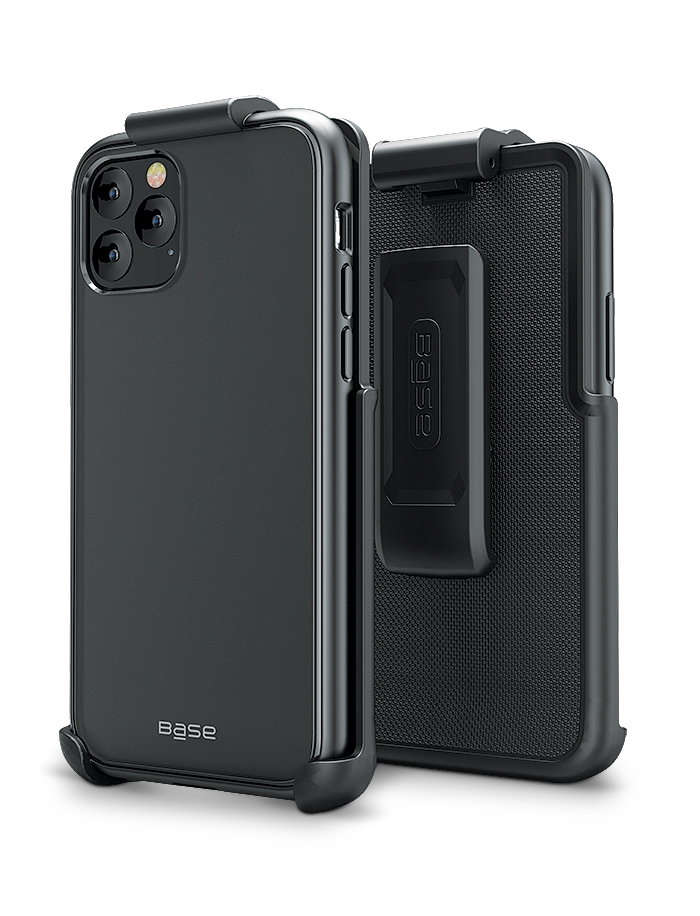 Base DuoHybrid - Reinforced Protective Case w/ Kickstand Holster Combo for iPhone 11 Pro ( 5.8 )