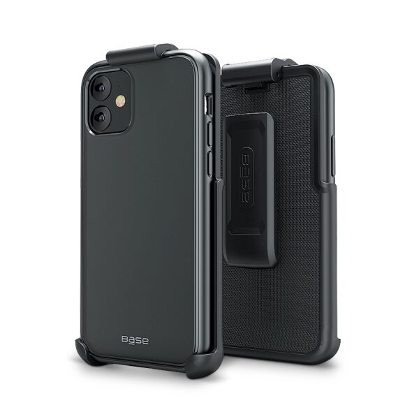 Base DuoHybrid - Reinforced Protective Case w/ Kickstand Holster Combo for iPhone 11 (6.1)