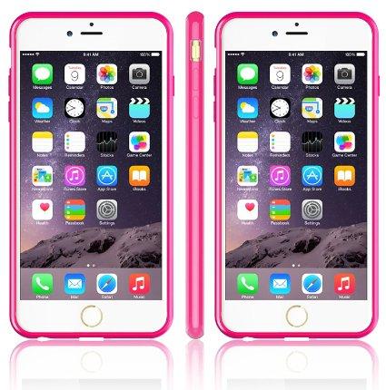 Base Bumper Back iPhone 6 Plus - Pink/clear