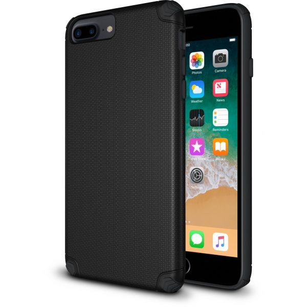 Base ProTech - Rugged Armor Protective Case for iPhone 6, 7, 8 Plus - Black