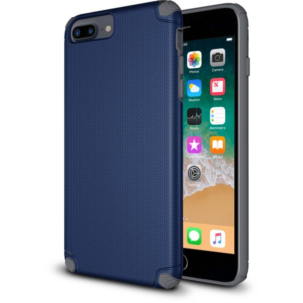 Base ProTech - Rugged Armor Protective Case for iPhone 6, 7, 8 Plus - Blue