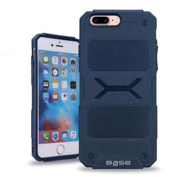 Base ProTech - Rugged Armor Protective Case for iPhone 7/8 Plus - Blue