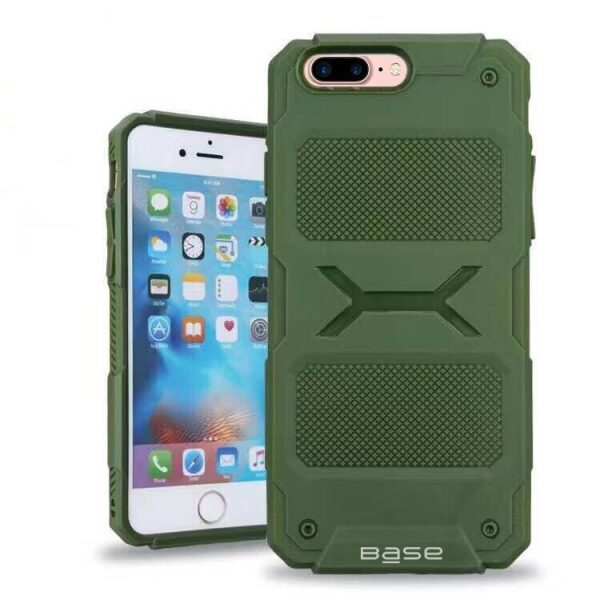 Base ProTech - Rugged Armor Protective Case for iPhone 7/8 Plus - Green