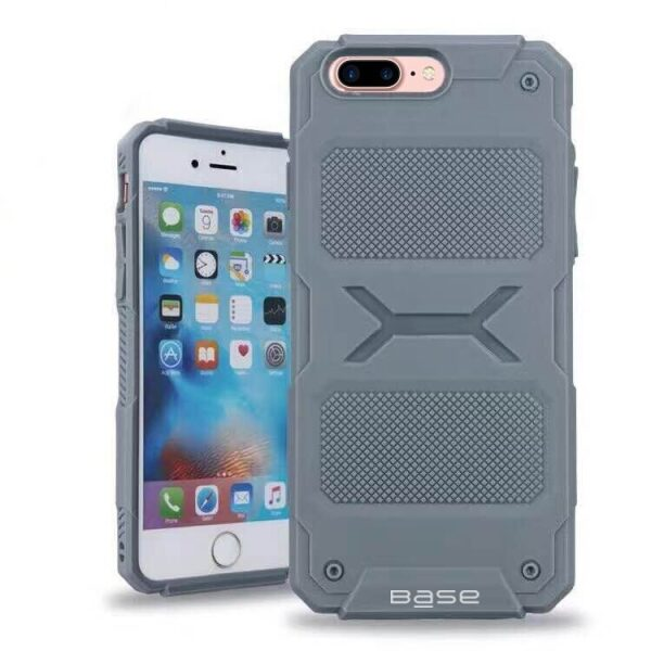 Base ProTech - Rugged Armor Protective Case for iPhone 7/8 Plus - Grey