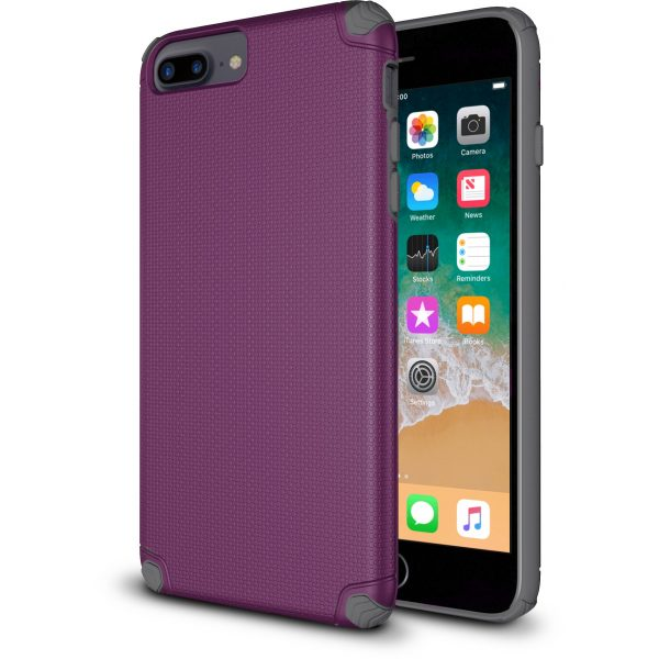 Base ProTech - Rugged Armor Protective Case for iPhone 7 & 8 Plus - Purple