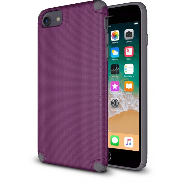 ProTech - Rugged Armor Protective Case for iPhone SE - 6/7/8 - Purple