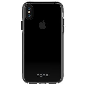 Base Crystal Shield - Reinforced Bumper Protective Case for iPhone X - Black