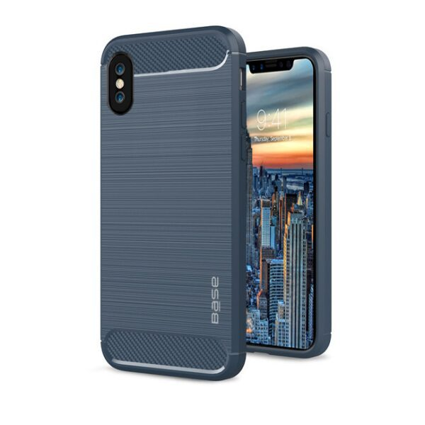 Base ProSlim - Sleek Brushed Protective Case for iPhone X - Blue