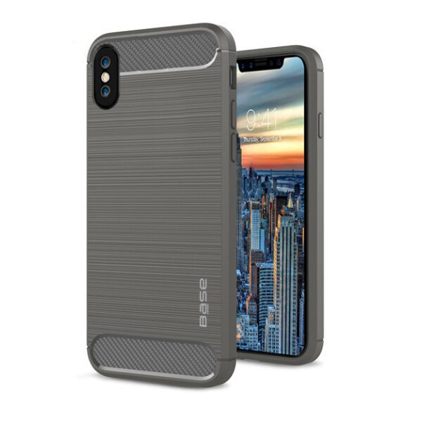 Base ProSlim - Sleek Brushed Protective Case for iPhone X - Grey