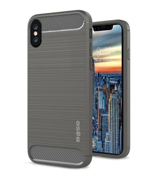 Base ProSlim - Sleek Brushed Protective Case for iPhone X - Grey