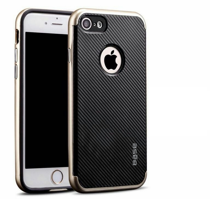 Base DuraSlim Fiber - Protective Case with Reinforced Bumper for iPhone - SE - 7/8 - Gold