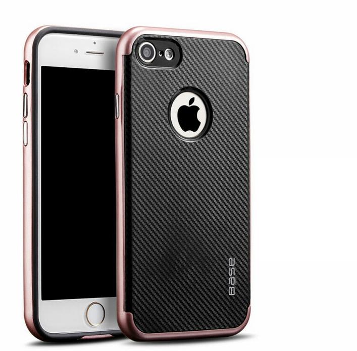 Base DuraSlim Fiber - Protective Case with Reinforced Bumper for iPhone - SE - 7/8 - Rose Gold