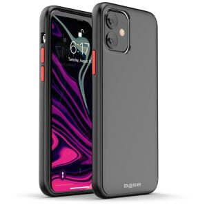Base  IPhone 11 (6.1) -DuoHybrid Reinforced  Protective Case  - Smoke/Black