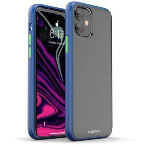 Base  IPhone 11 (6.1)  -DuoHybrid Reinforced  Protective Case - Smoke/Blue