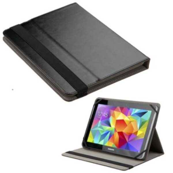 """Base Universal Leather Pouch For 10"""" Tablets - Black"""