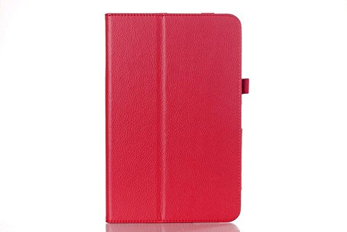 """Base Universal Leather Pouch For 10"""" Tablets - Red"""