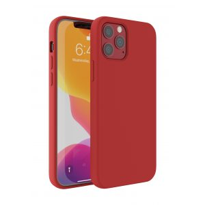 Base Liquid Silicone Gel/Rubber Case iPhone 12 Mini (5.4) - Red