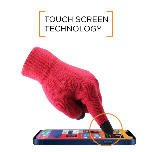 Base Smart Touch Glove - Red