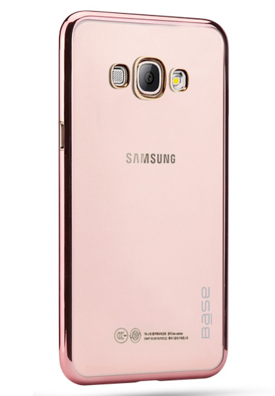 Base Aero Glaze - Electroplate Clear Slim Protective Case for Samsung S8 Plus - Rose Gold