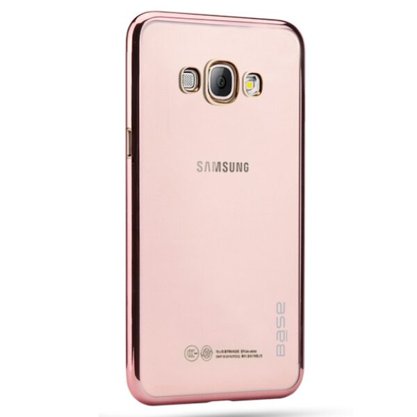 Base Aero Glaze - Electroplate Clear Slim Protective Case for Samsung S8 - Rose Gold