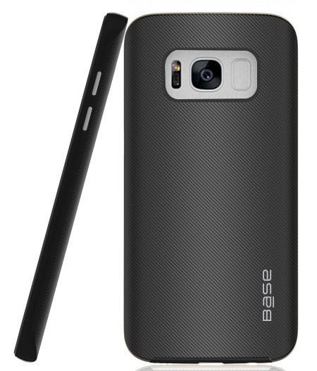 Base DuraSlim Fiber - Protective Case with Reinforced Bumper for Samsung Galaxy S8 - Black