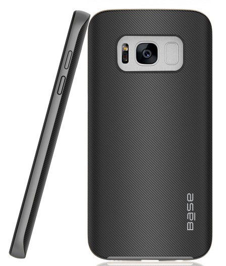 Base DuraSlim Fiber - Protective Case with Reinforced Bumper for Samsung Galaxy S8 - Space Grey