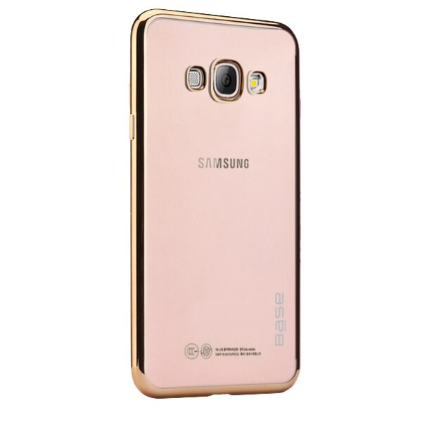 Base Aero Glaze - Electroplate Clear Slim Protective Case for Samsung S8 Plus - Gold