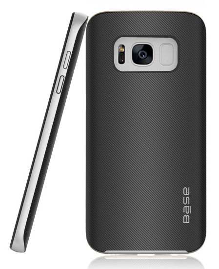 Base DuraSlim Fiber - Protective Case with Reinforced Bumper for Samsung Galaxy S8 - Silver