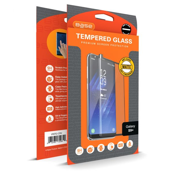 Base Matte Tempered Glass Screen Protector for Galaxy S9 Plus - Matte / Anti Glare
