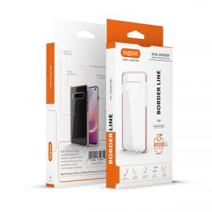 Base BorderLine - Dual Border Impact Protection For Samsung Galaxy S10 - Pink