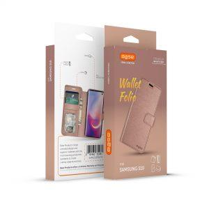 Base Folio Exec Wallet Case Samsung Galaxy S10 -  Rose
