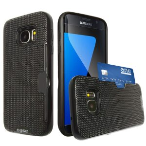 Base DuraFit Stowaway - Dual Layer Protective Credit Card Case for Samsung Galaxy S7 - Black